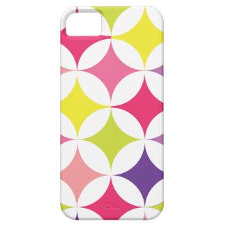 Modern Geometric Retro Circles Multi Colorful iPhone SE/5/5s Case
