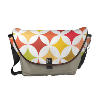 Modern Geometric Retro Earth Tones II Courier Bag