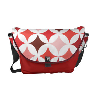 Modern Geometric Retro Really Red Messenger Bag
