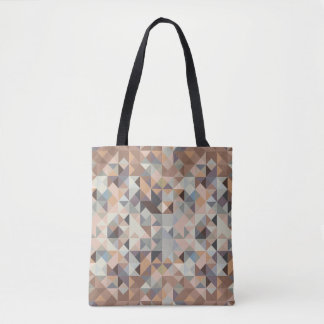 Modern Geometric Shapes Blue & Beige All-over tote