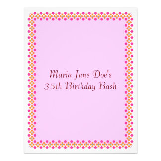 Modern Geometric Simple Decorative Border Personalized Announcement