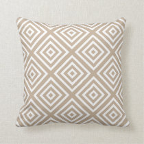 Modern Geometric Squares Pattern Sand Throw Pillow