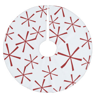 Modern Geometric Star Pattern Tree Skirt