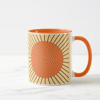 Modern Geometric Sunburst - Mandarin Orange Mug