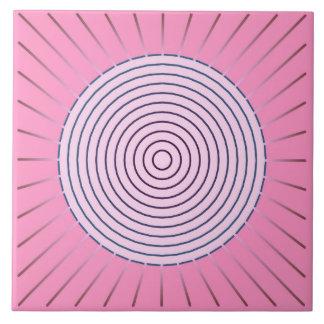 Modern Geometric Sunburst - Shades of Pink Tile