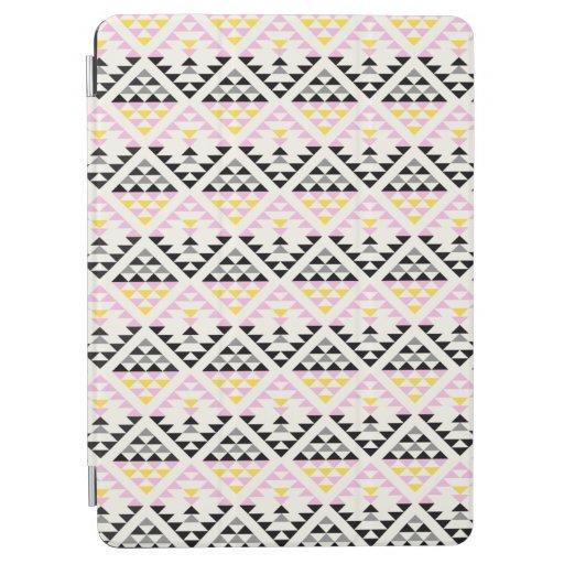 Modern Geometric Tiles Triangle Pattern Pink Black iPad Air Cover