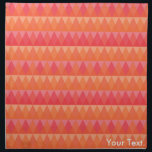 "Modern Geometric Triangle Pattern Coral &amp; Pink Art Cloth Napkin<br><div class=""desc"">Vibrant,  modern geometric triangle pattern with colorful coral tones (pink,  orange,  coral,  rose,  etc.). Fully Customizable. Personalize it with your own text,  add your name or a monogram,  include a quote,  add images,  and change text as you wish. Pretty design,  with fun,  modern colors.</div>"