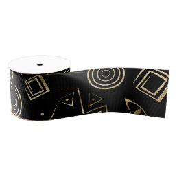 Modern geometric tribal pattern grosgrain ribbon