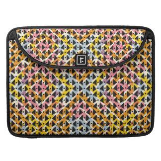 Modern geometric weave pink yellow blue black sleeve for MacBook pro