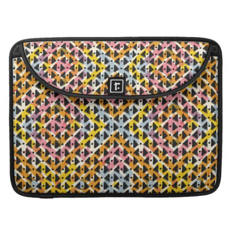 Modern geometric weave pink yellow blue black sleeve for MacBook pro