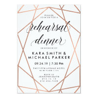 Modern Geometric Wedding Rehearsal Dinner Invitation