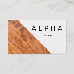 Wood grain business cards templates zazzle modern geometric wood grain background design business card colourmoves