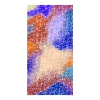 Modern geometrical pastel watercolor pattern card