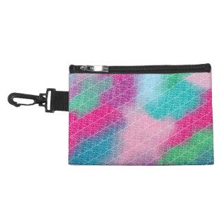 Modern geometrical pink pastel watercolor pattern accessory bags