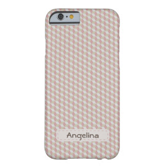 Modern Geometrical Plaid 3D Effect Monogram Barely There iPhone 6 Case