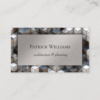 Modern Geometry Architecture Business Card