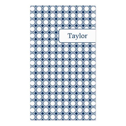 Modern Geometry Business Cards - Navy Blue
