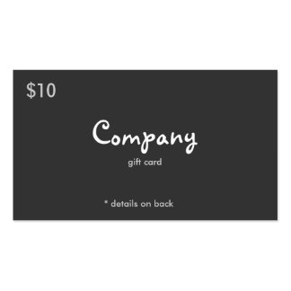 Modern Gift or Discount Card Business Card Templates
