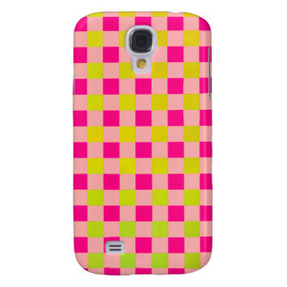 Modern Gingham Limey Green N Pink iPhone 3 Case