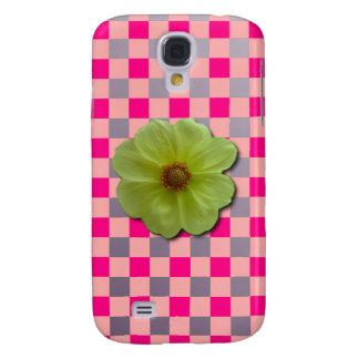 Modern Gingham N' Flower iPhone 3 Case