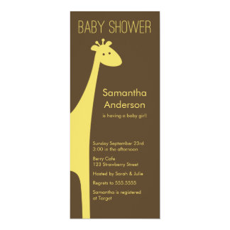 Modern Giraffe Baby Shower Invitation - Boy/Girl