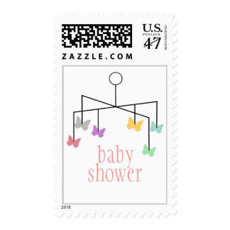Modern Girl Butterfly Mobile Customizable Stamp