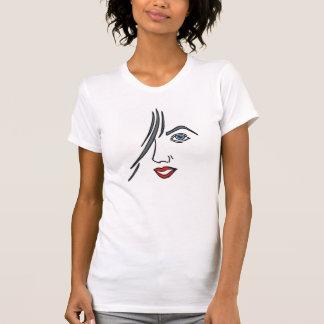 Modern Girl Face Design T-shirt