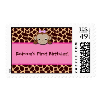 Modern Girl Monkey Stamps [Pink]