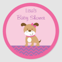 Modern Girl Puppy Envelope Seals Stickers