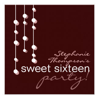 Modern Girl Sweet 16 Birthday Party Invitation