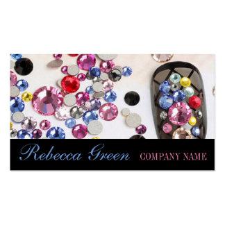 modern girly beauty fashion jewelry nail salon business card
