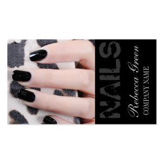 modern girly beauty fashion nail salon nail artist business card