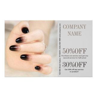 nail salon flyer templates