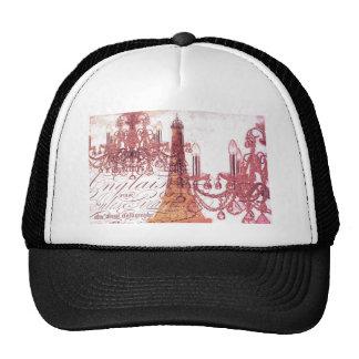 modern girly chandelier vintage paris eiffel tower trucker hat