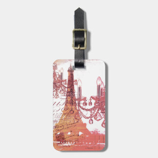 modern girly chandelier vintage paris eiffel tower tags for luggage