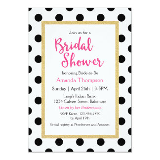 Modern Girly Chic Bridal Shower Card