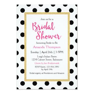 Modern Girly Chic Bridal Shower Card