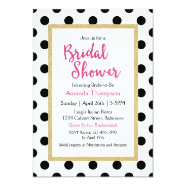 oasis_landing Modern Girly Chic Bridal Shower Card