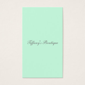 modern girly chic solid color powder green mint business card