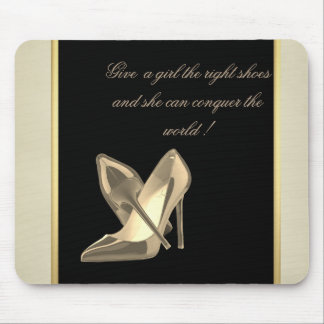 Modern Girly Cute, Heels-Motivational Message Mouse Pad