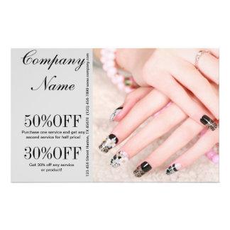 """modern girly fashion beauty SPA salon nail salon 5.5"""" X 8.5"""" Flyer"""
