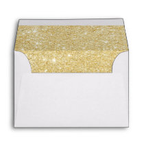 Modern girly faux gold glitter marble pattern envelope