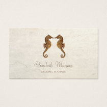Modern Girly Funny, Seahorses In Love Business Card