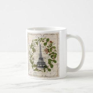 modern girly ivy leaves wreath paris eiffel tower coffee mug