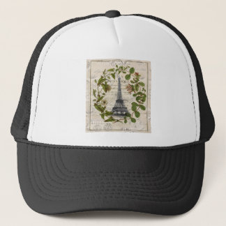 modern girly ivy leaves wreath paris eiffel tower trucker hat