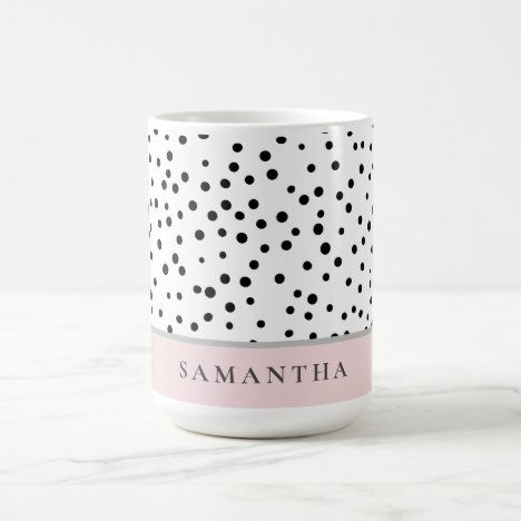 Modern Girly Pastel Pink With Personalized Name Coffee Mug
