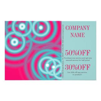 "modern girly pattern swirls flourish fuschia 5.5"" x 8.5"" flyer"