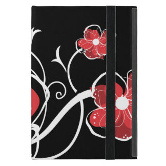 Modern Girly Red and White Flowers Cover For iPad Mini