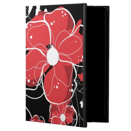 Modern Girly Red and White Flowers Powis iPad Air 2 Case