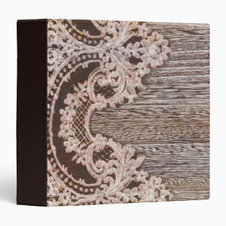 modern girly rustic barn wood western country lace 3 ring binders